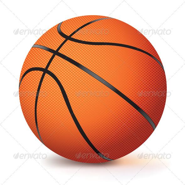 Realistic Vector Basketball - Sports/Activity Conceptual