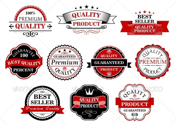 Retro Labels and Banners for Retail Business - Web Elements Vectors