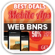 App Sale Web Banners with Phone Mock-up - GraphicRiver Item for Sale