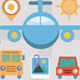 Flat Icons Travel and Transport Elements - GraphicRiver Item for Sale