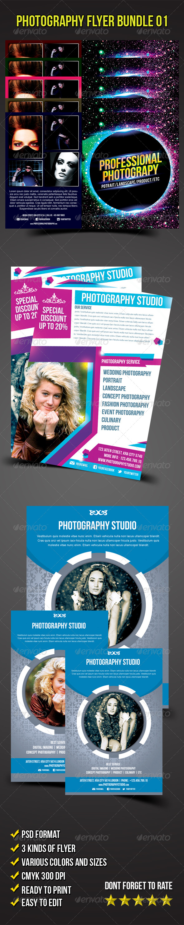 Flyer Bundle 01 (Photography Flyer) - Corporate Flyers