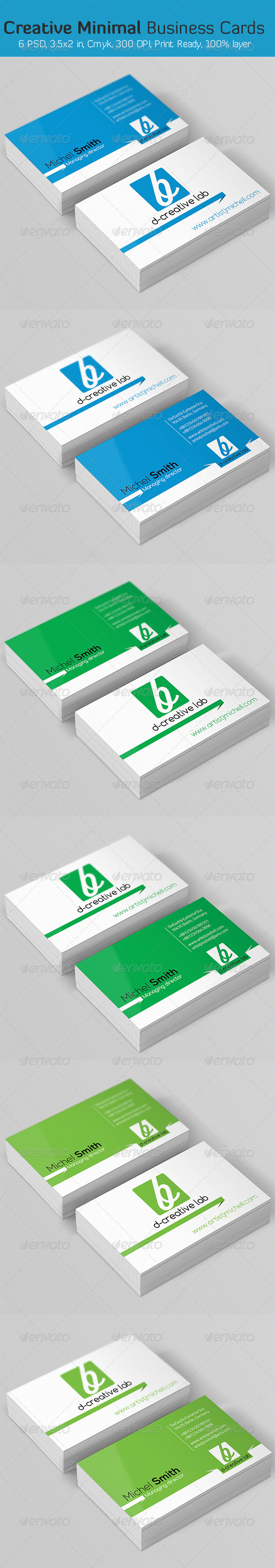Creative Minimal Business Card - Business Cards Print Templates