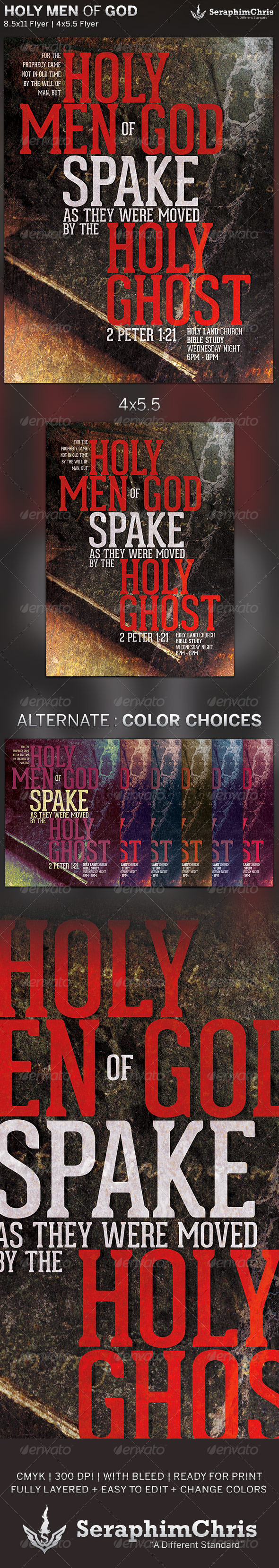 Holy Men of God: Church Flyer Template - Church Flyers