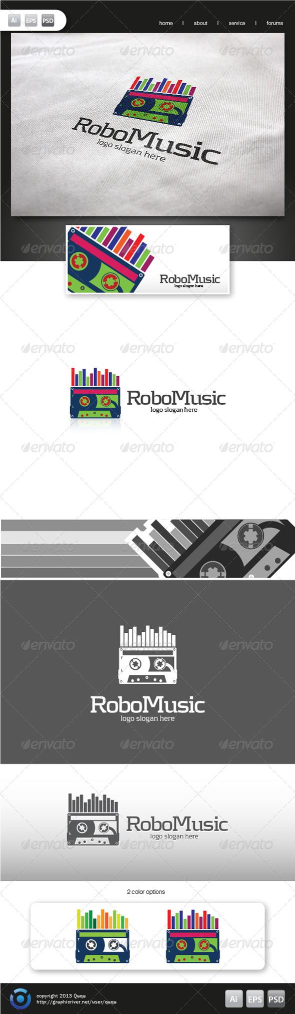 Robo Music Logo - Objects Logo Templates