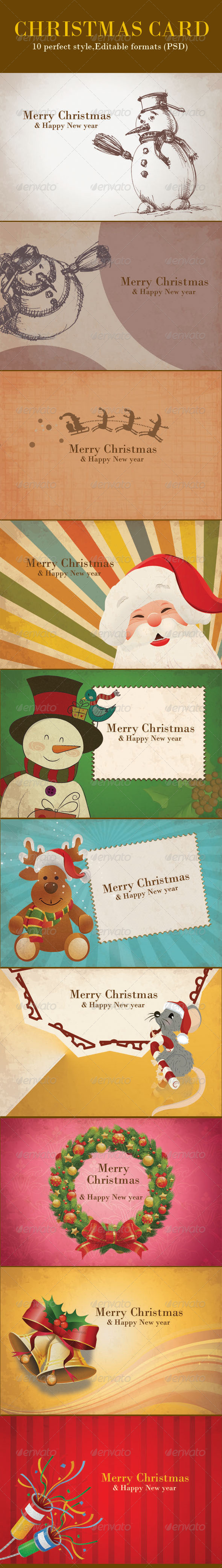 Vintage Christmas Backgrounds Card  - Miscellaneous Backgrounds