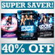 Dance Party Flyers Super Bundle - GraphicRiver Item for Sale