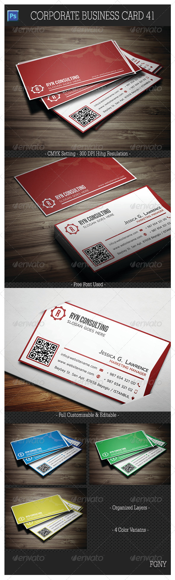 Corporate Business Card 41 - Corporate Business Cards