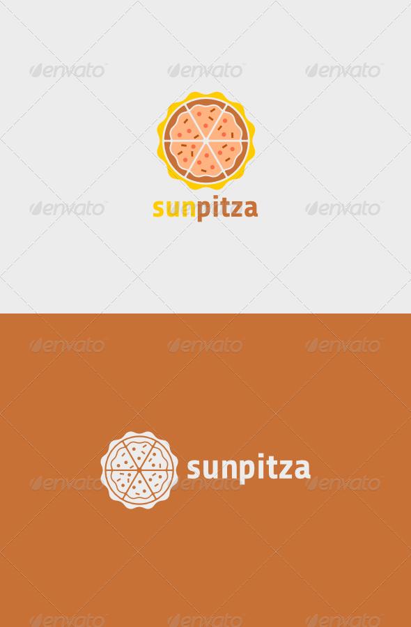 Sun Pitza Logo  - Food Logo Templates