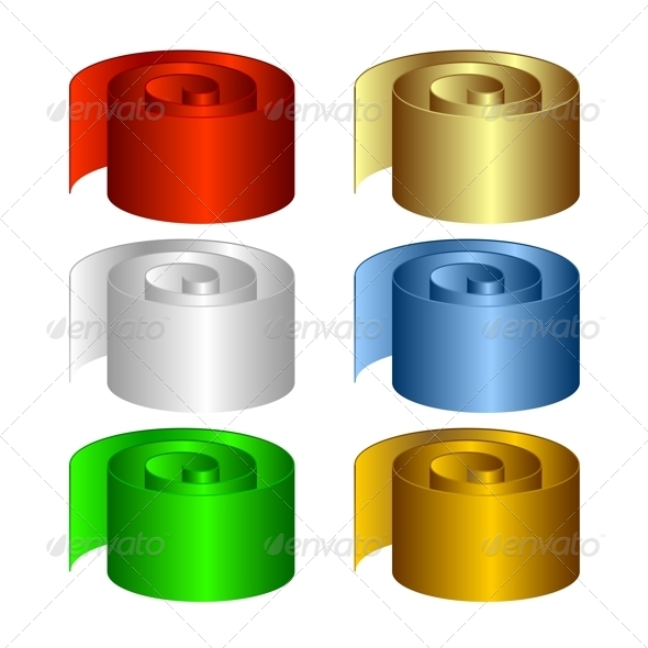 Set of Multicolored Rolls. - Objects Vectors