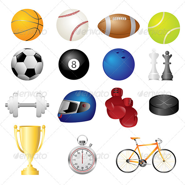 Sport Items Icons - Sports/Activity Conceptual