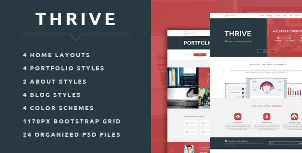 Thrive - Multipurpose Creative PSD Template - Creative PSD Templates