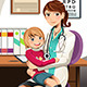 Pediatrician with Child - GraphicRiver Item for Sale