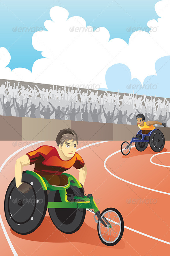 Wheelchair Race - Sports/Activity Conceptual