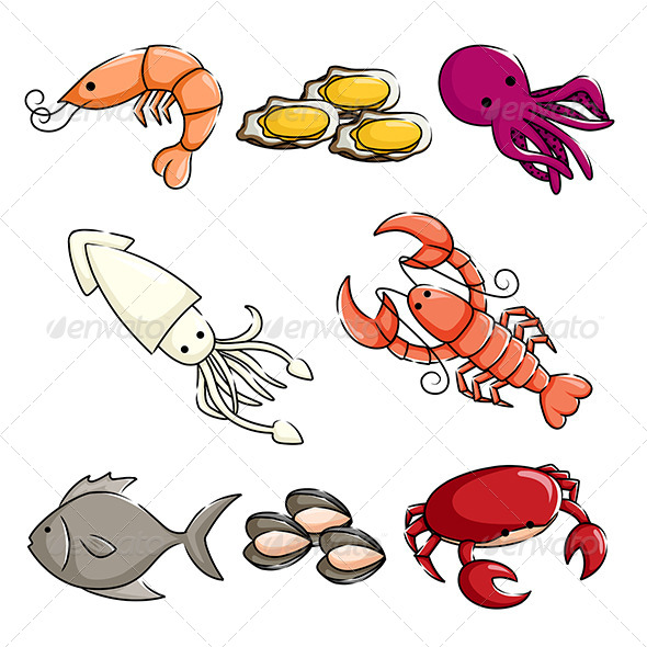 Sea Animals Icons - Animals Characters