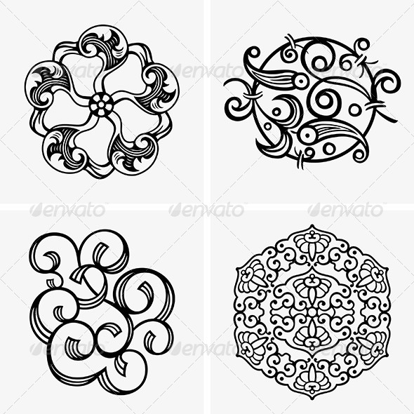 Design Decorations - Flourishes / Swirls Decorative