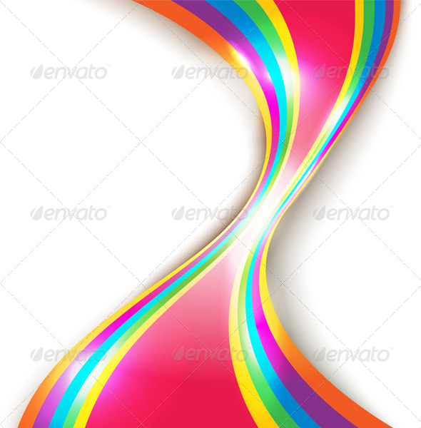 Abstract Design with Multicolored Lines - Backgrounds Decorative