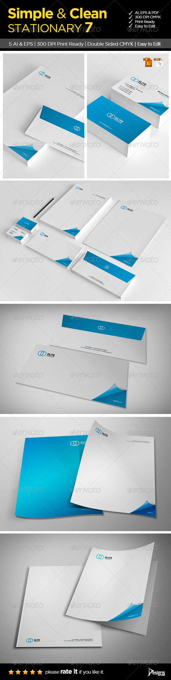 Simple and Clean Stationary 7 - Stationery Print Templates