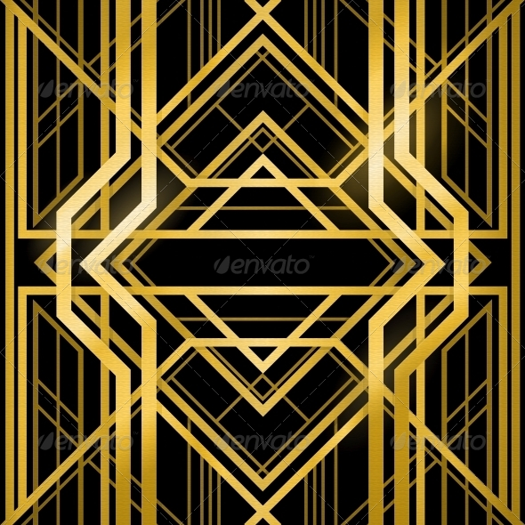 Art deco grille by marochkina graphicriver art deco grille backgrounds decorative toneelgroepblik