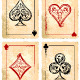 Grunge Poker Cards Vector Set - GraphicRiver Item for Sale