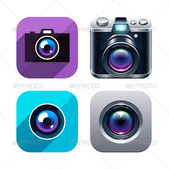 Photo App Icons - Vectors