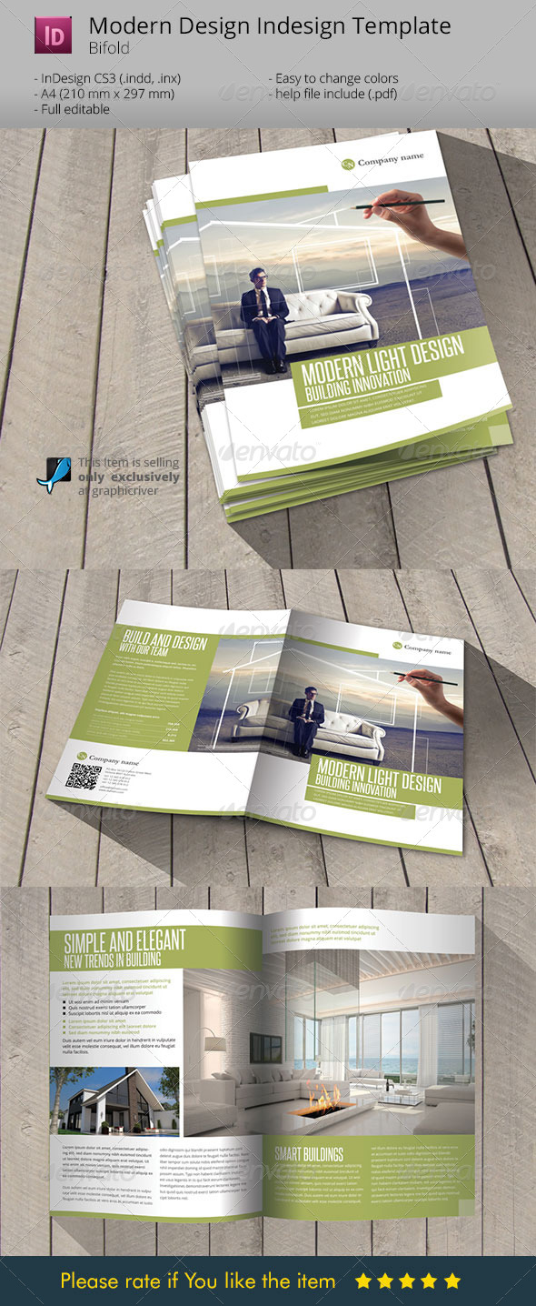 Modern & Light Design Indesign Template Brochure - Corporate Brochures