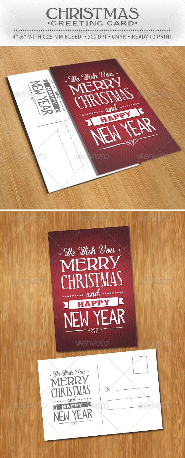 Christmas Greeting Postcard - Greeting Cards Cards & Invites