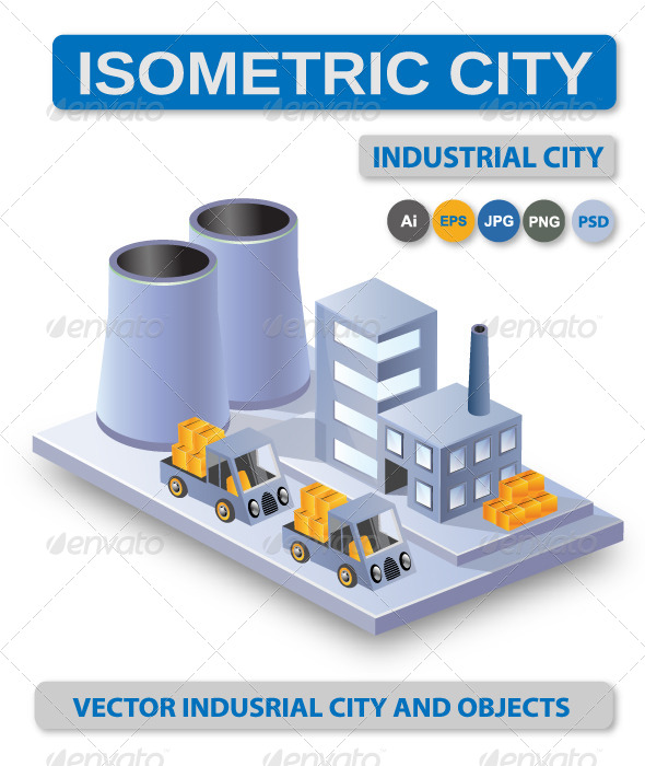 Industrial Vector City - Industries Business