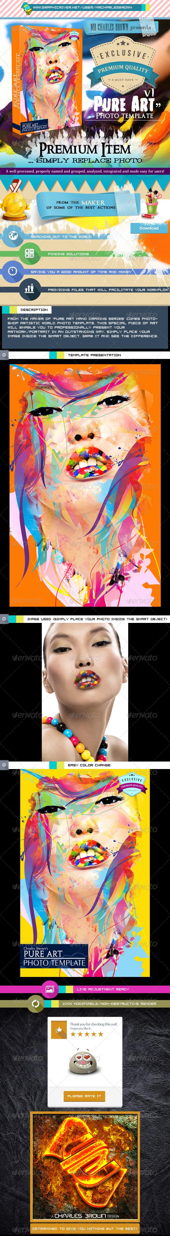 Pure Art Photo Template v1 - Photo Templates Graphics