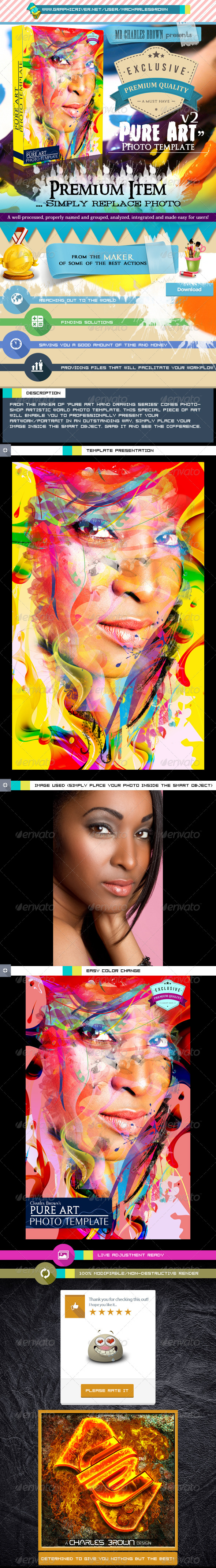 Pure Art Photo Template v2 - Photo Templates Graphics