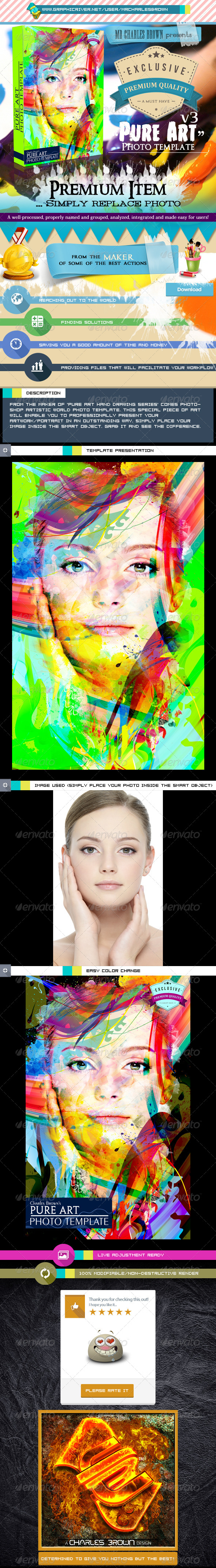 Pure Art Photo Template v3 - Photo Templates Graphics