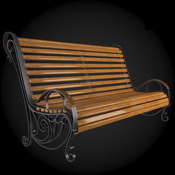 Bench 003 - 3DOcean Item for Sale