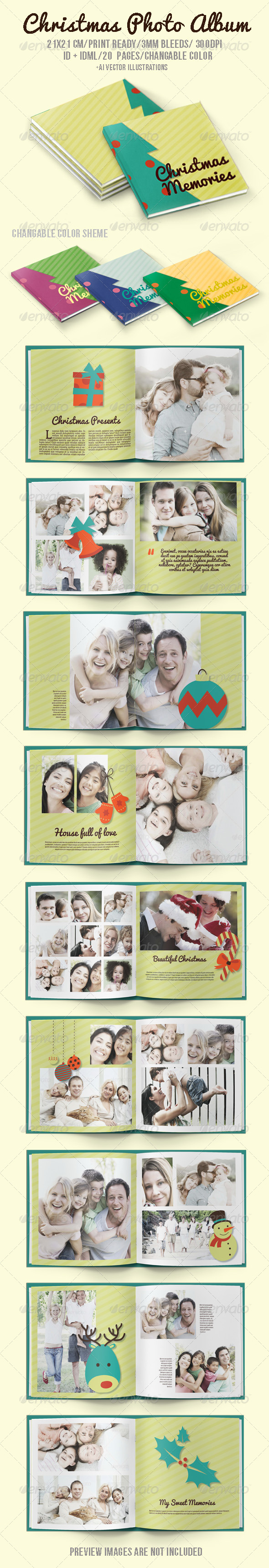 Christmas Memories - Photo Albums Print Templates