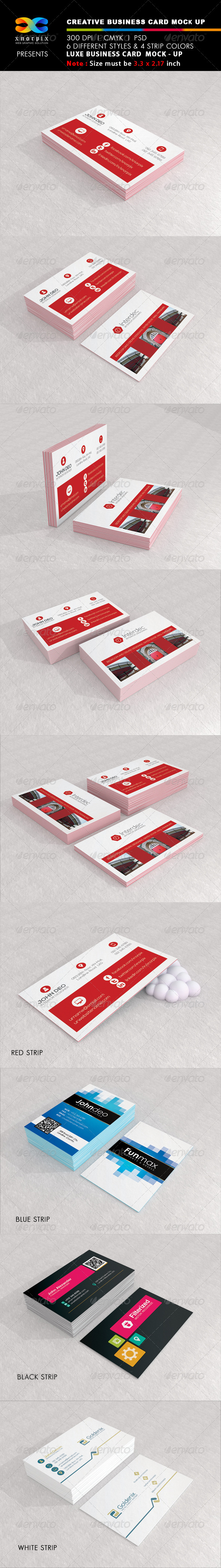 Luxe Business Card Mock-up - Business Cards Print