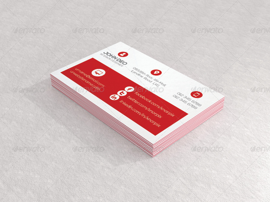 Luxe Business Card Mock-up by -axnorpix | GraphicRiver