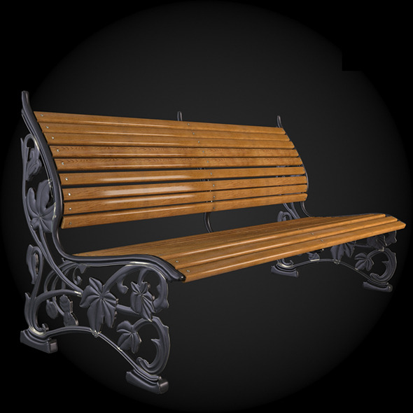 Bench 009 - 3DOcean Item for Sale