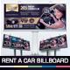Rent A Car Billboard - GraphicRiver Item for Sale