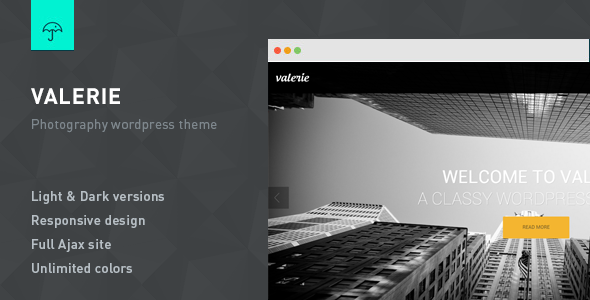 Valerie – Photography WordPress Theme