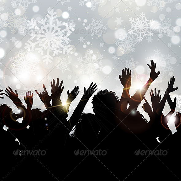Christmas Party Background - Christmas Seasons/Holidays