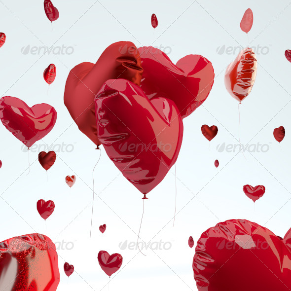Heart Balloon - 3D Backgrounds