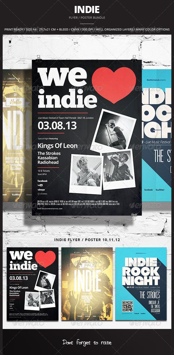 Indie Flyer / Poster Bundle 4 - Events Flyers