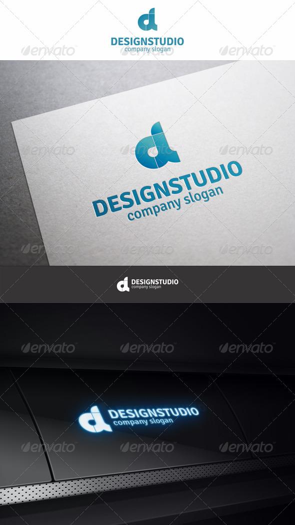 Design Studio D Logo - Letters Logo Templates