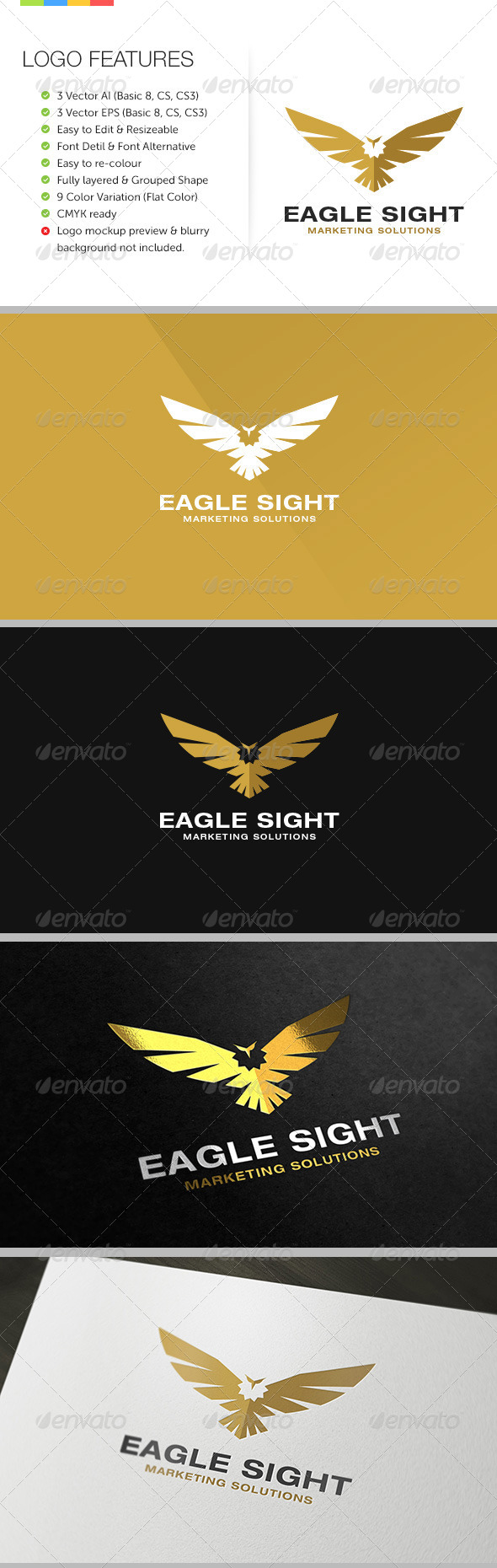 Eagle Sight Logo - Animals Logo Templates