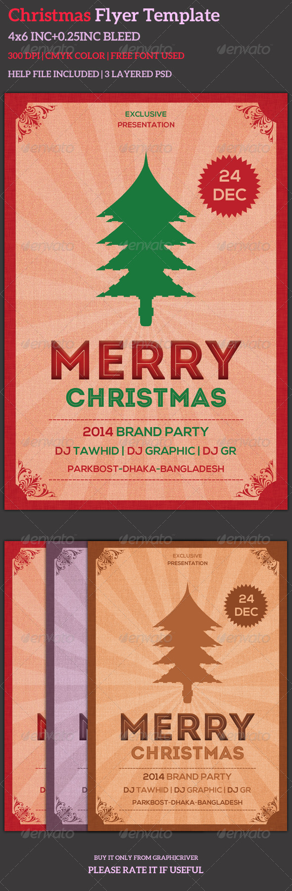 Christmas Flyer Template - Events Flyers