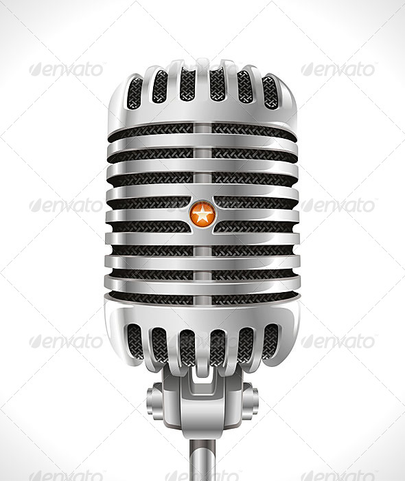 Old Microphone - Retro Technology