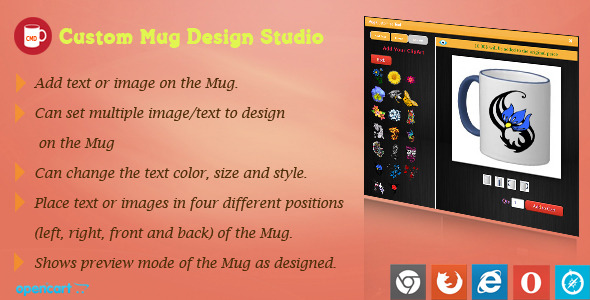 Mug Design and Custom Printing Module for OpenCart - CodeCanyon Item for Sale