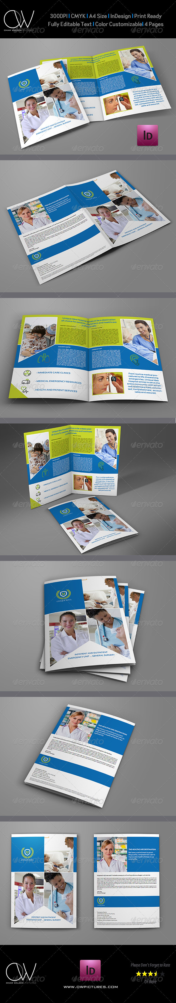 Hospital Bi-Fold Brochure Template - Corporate Brochures
