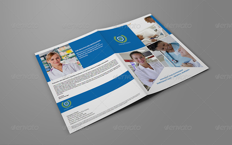 Hospital Bi Fold Brochure Template By Owpictures Graphicriver
