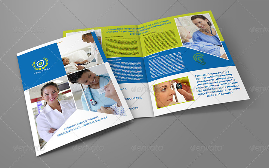 Hospital Bi-Fold Brochure Template By Owpictures | Graphicriver