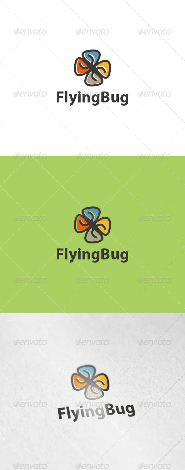 Flying Bug Logo - Nature Logo Templates
