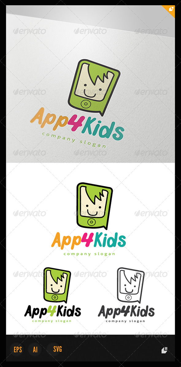 App for Kids - Humans Logo Templates